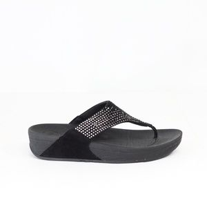 FitFlop Flare Wedge Sandals Women Crystals Shoes